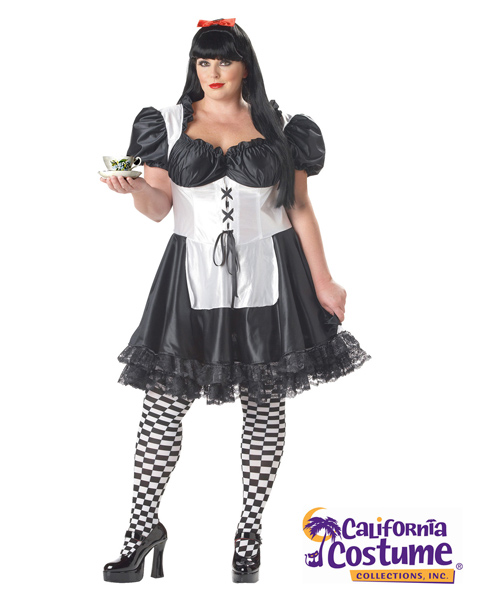 Plus Size Malice In Wonderland Costume for Adult