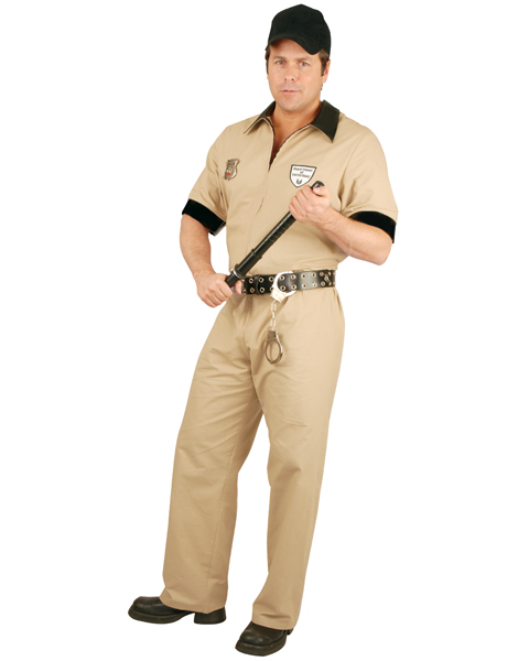 Plus Size Corrections Guard Costume for Adult - Click Image to Close