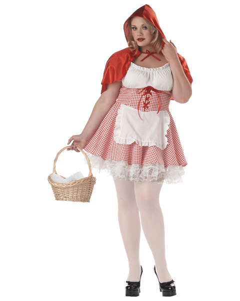 Plus Size Miss Red Riding Hood Costume - Click Image to Close