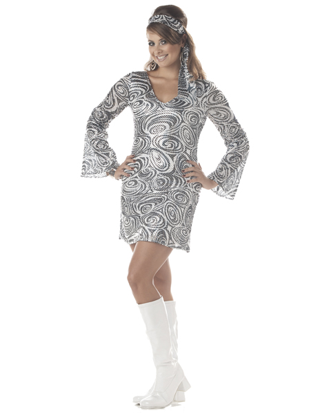 Womens Plus Size Disco Diva Costume