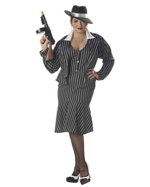 Mafia Mama Adult Plus Costume