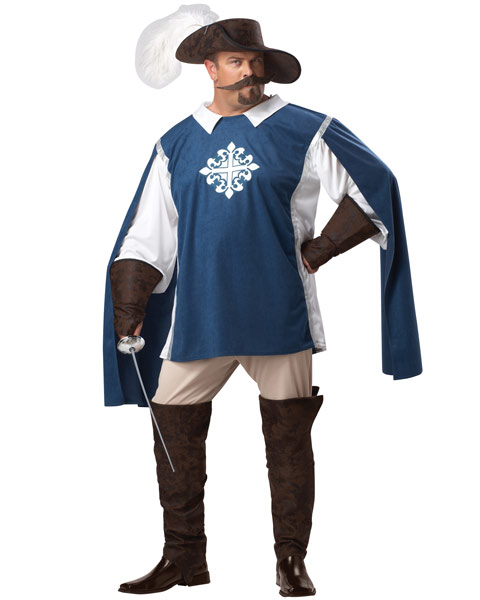 Plus Size Musketeer Mens Costume