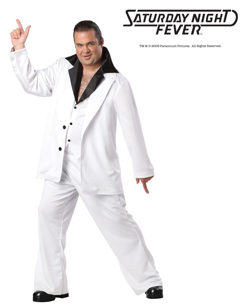 Deluxe Plus Size Saturday Night Fever Mens Costume