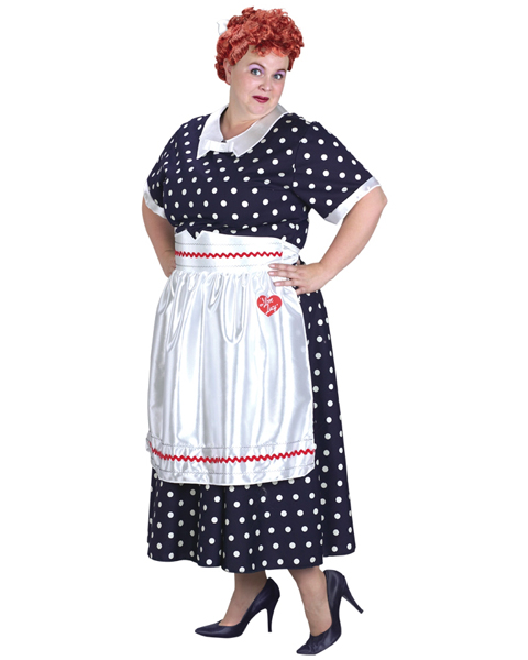 Plus Size I Love Lucy Polka Dot Costume