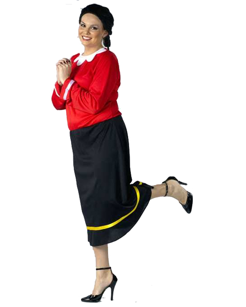 Womens Plus Size Olive Oyl Costume