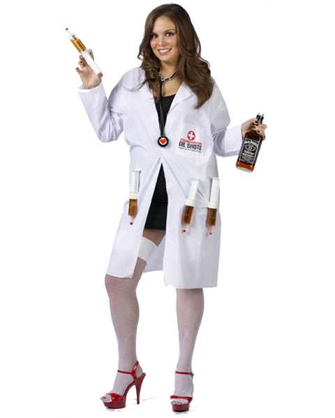 Womens Plus Size Dr. Shots Costume