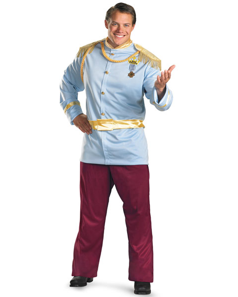 Plus Size Mens Deluxe Disney Prince Charming Costume