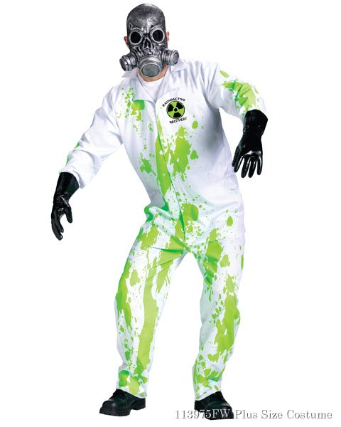Mens Plus Size Radiation Recovery Team Costume