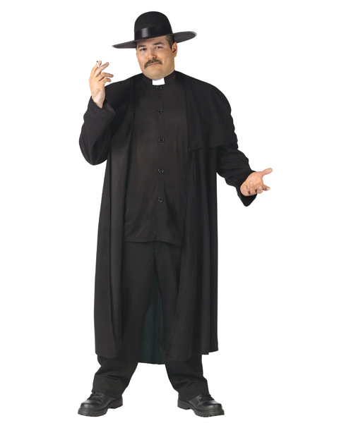 Deluxe Priest Plus Size Costume