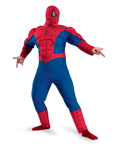 Mens Classic Spider Man Muscle Chest Plus Costume