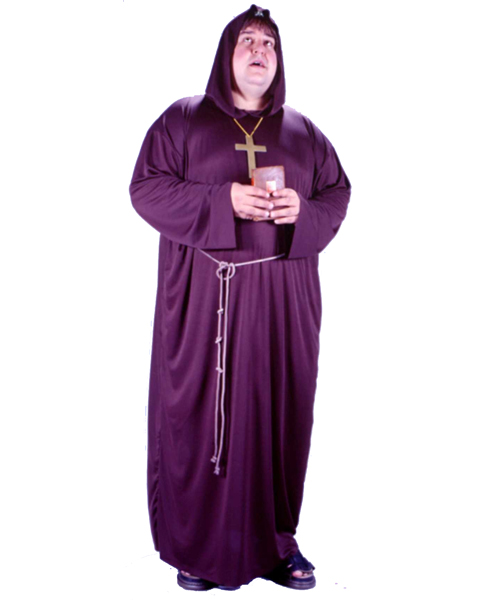 Mens Plus Size Monk Costume