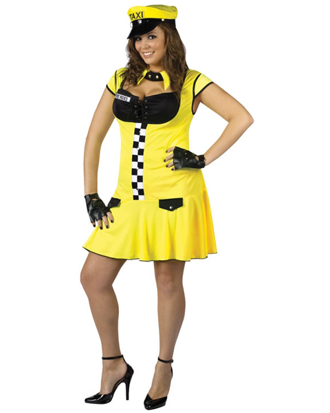 Plus Sexy Meter's Running Cabbie Costume