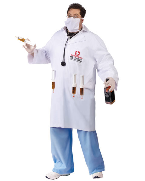 Plus Size Dr. Shots Mens Costume