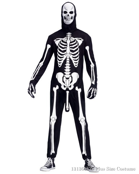 Mens Plus Size Skele-Boner Costume