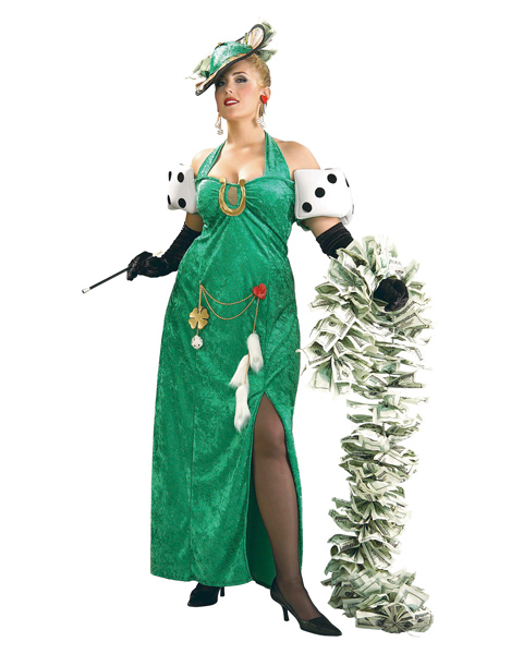 Plus Size Lady Luck Costume for Adult
