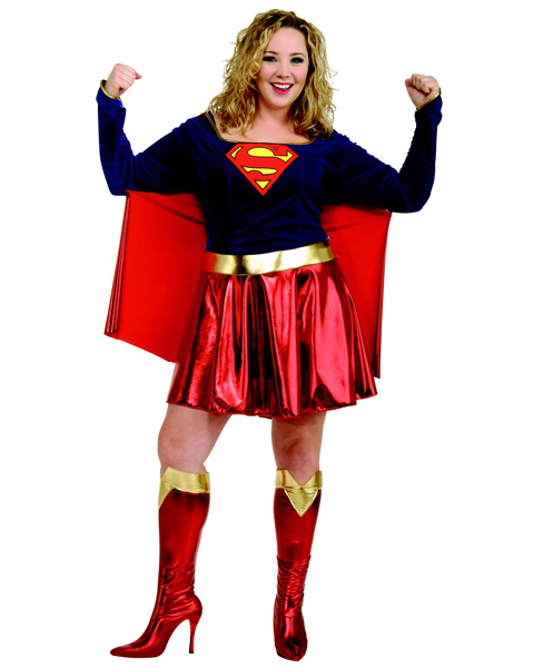 Plus Size Supergirl Costume for Adult
