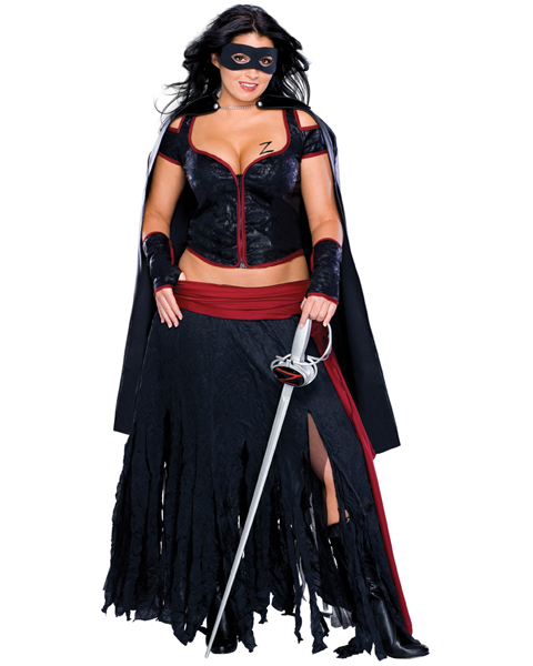 Plus Size Lady Zorro Costume