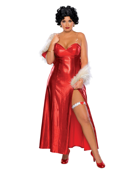 Plus Size Betty Boop Long Dress Costume