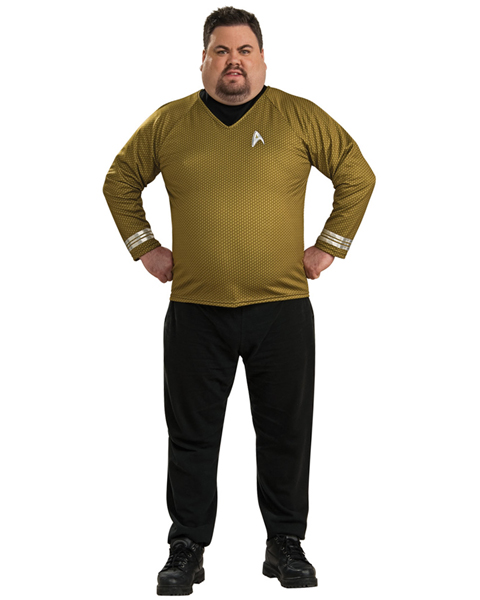 Mens Plus Size Star Trek Deluxe Shirt Costume