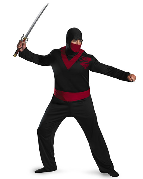 Plus Size Ninja Warrior Mens Costume