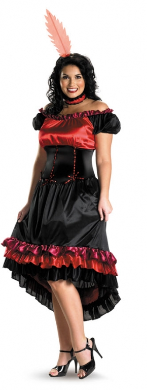 Can Can Cutie Plus Size Adult Costume