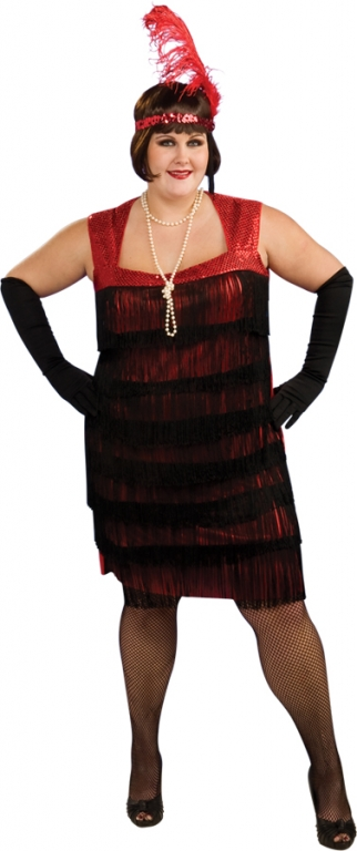 Flapper Plus Size Costume