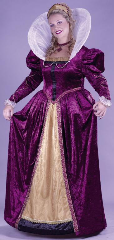 Queen Elizabethan Plus Size Adult Costume