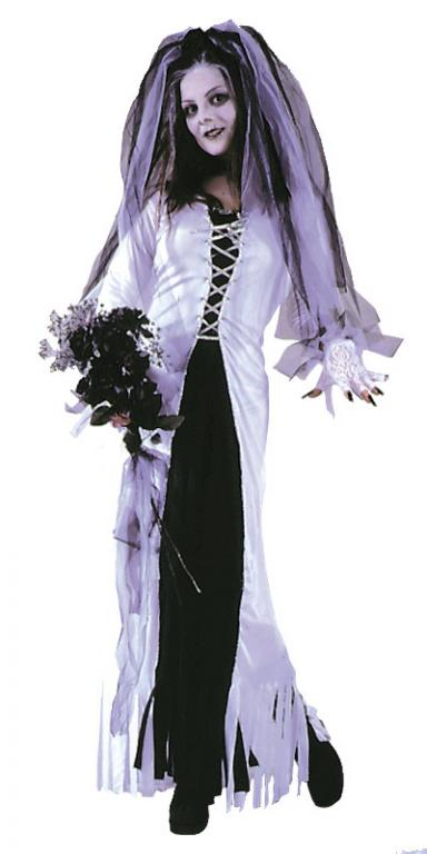 Skeleton Bride Plus Size Adult Costume - Click Image to Close