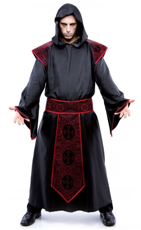 Gothic Priest Adult Costume XL