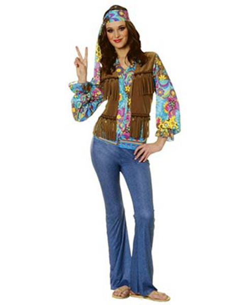 Womens Plus Hippie Chick Costume