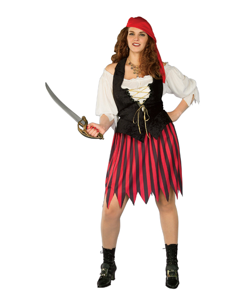 Adult Plus Size Buccaneer Wench Costume