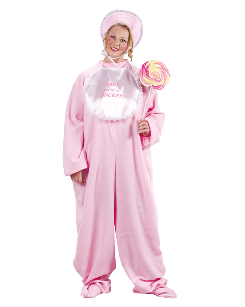 Female Adult Plus Size PJ Jammies Costume - Click Image to Close
