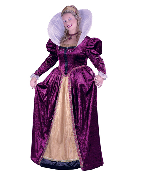 Plus Size Elizabeth Queen Costume for Adult