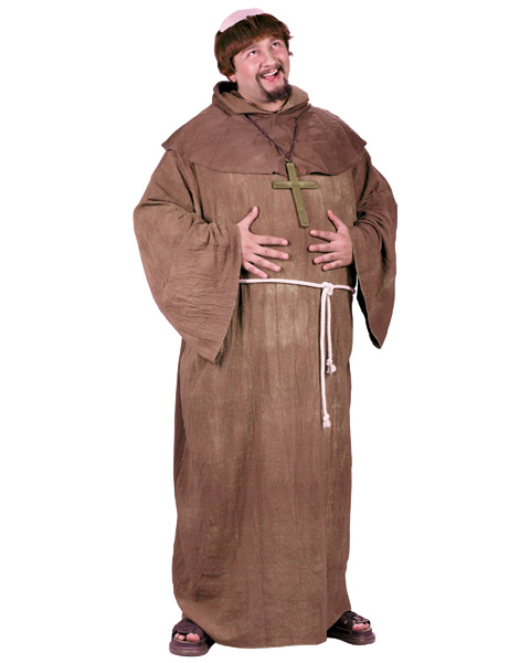 Medieval Monk with Wig Plus Costume