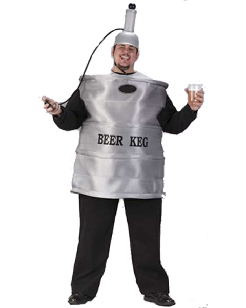 Mens Plus Size Beer Keg Costume