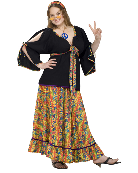 Adult Plus Size Groovy Mama Costume