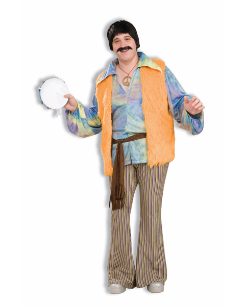 Mens Plus Size 60s Singer Costume