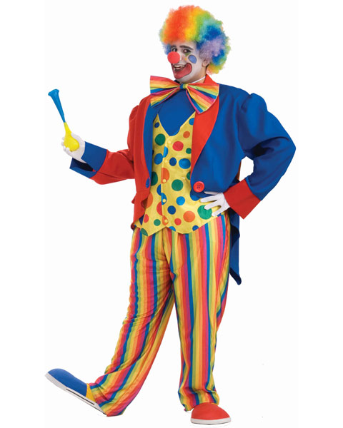 Plus Size Clown Mens Costume
