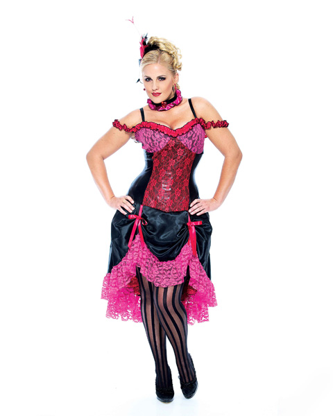 Sexy Madame Can Can Dancer Plus Size Costume - Click Image to Close