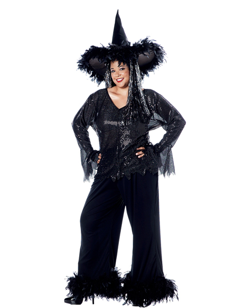 Glamour Witch Plus Size Costume for Women
