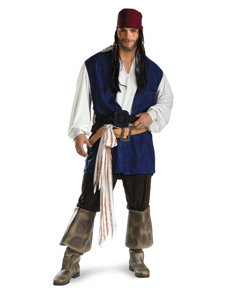 Classic Plus Size Pirates Of The Caribbean Jack Sparrow Mens Cos