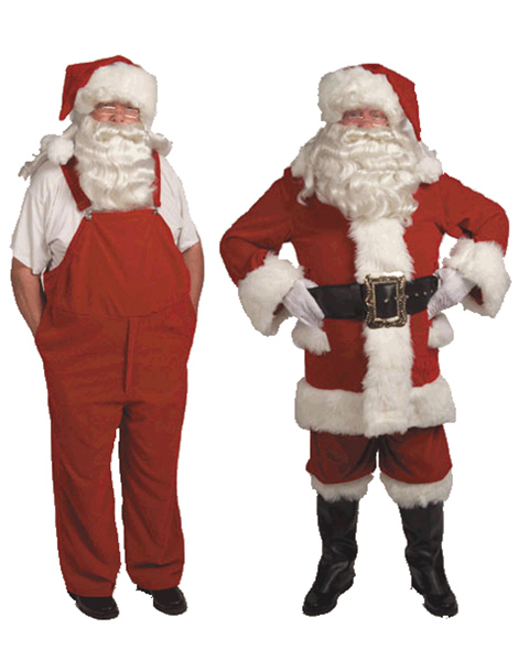 XL Professional Velvet Santa Suit With Overalls