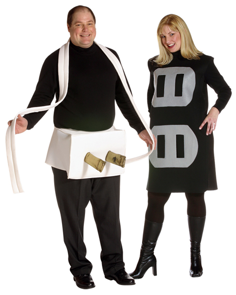 Mens Plus Size Plug & Socket Costume
