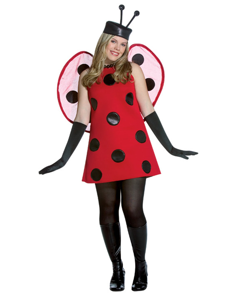 Womans Plus Size Lady Bug Costume