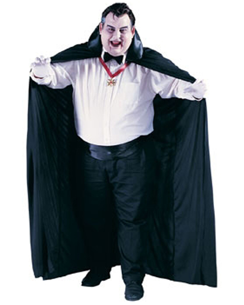 Mens Plus Size 72 Inch Long Cape Costume