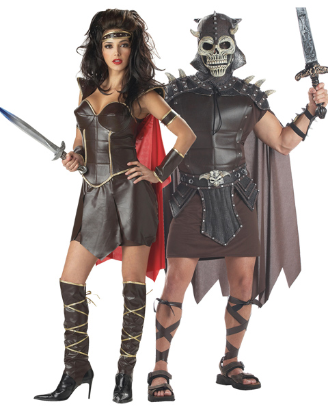 Couple Warrior Queen Costume