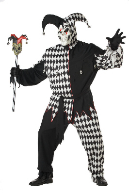Evil Jester Plus Size Adult Costume