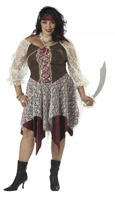 South Seas Siren Plus Size Adult Costume