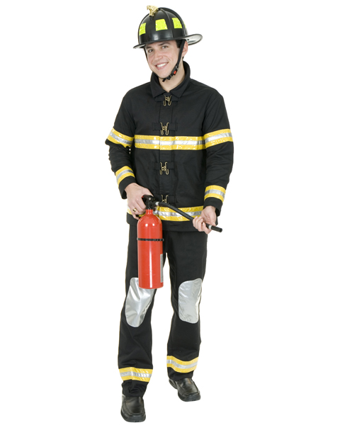 Mens Plus Size Fireman Costume