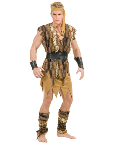 Mens Plus Size Cool Caveman Costume